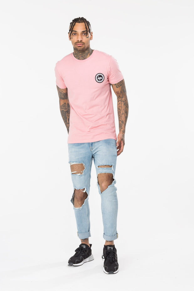 Hype Pink Gridworks Men's T-Shirt
