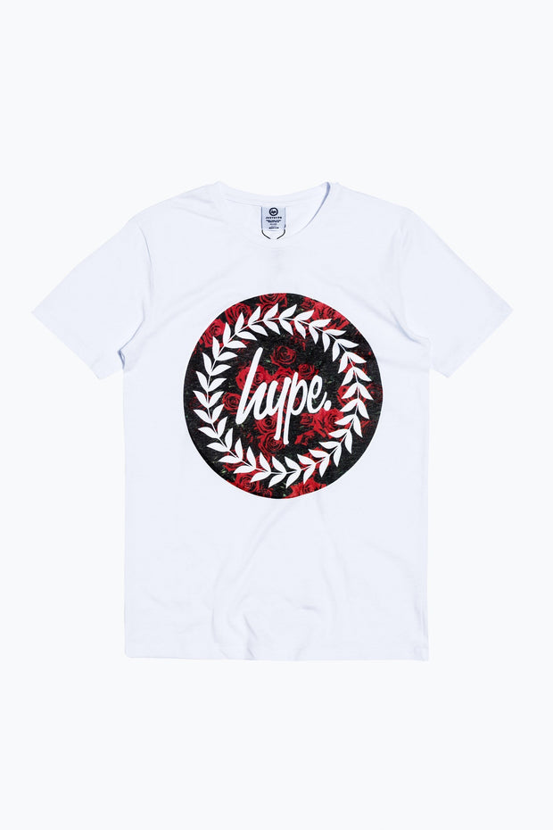 Hype White Roses Circle Men's T-Shirt