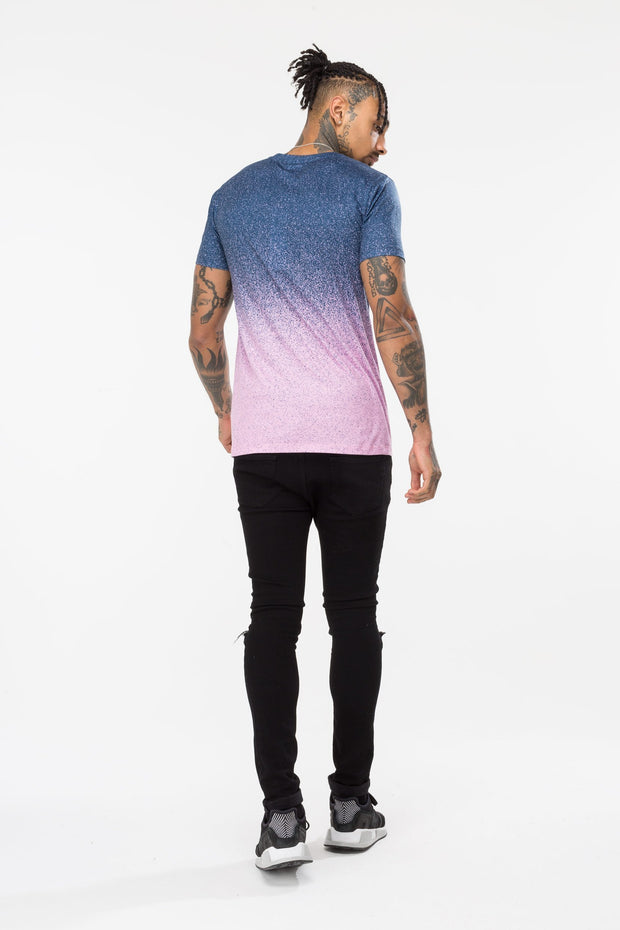 Hype Blue/Pink Speckle Fade Men's T-Shirt