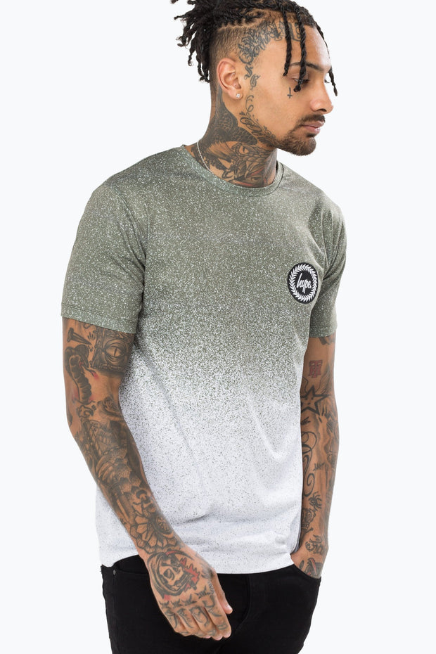 Hype Khaki/White Speckle Fade Men's T-Shirt