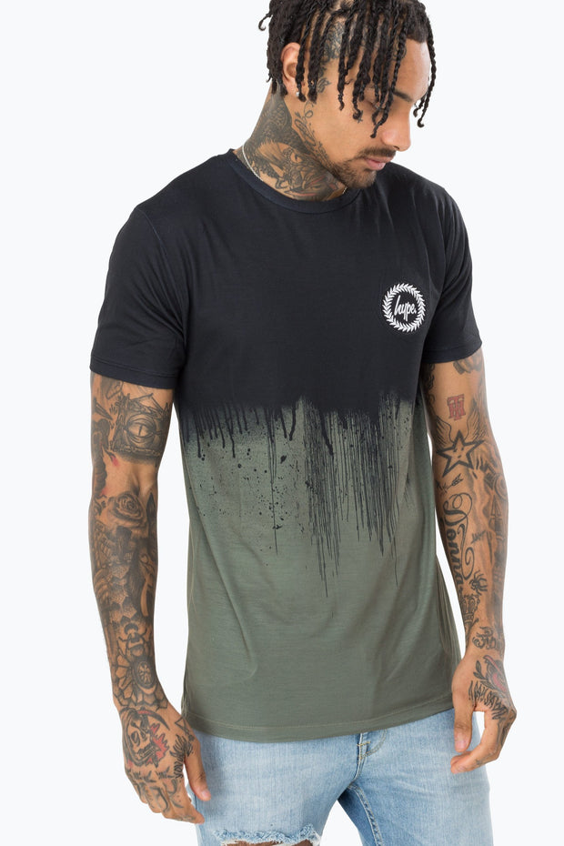 Hype Black/Khaki Drips Men's T-Shirt