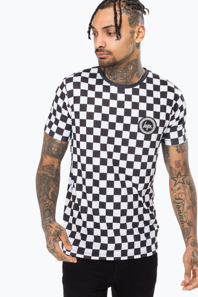 Hype Black/White Checkerboard Men's T-Shirt