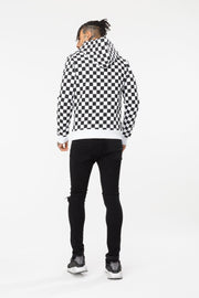 Hype Black/White Check Men's Pullover Hoodie