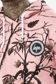 Hype Pink Real Camo Men's Pullover Hoodie