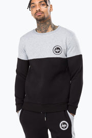 Hype Grey/Black Bradford Men's Crewneck