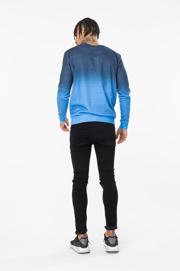 Hype Navy/Blue Fade Men's Crewneck
