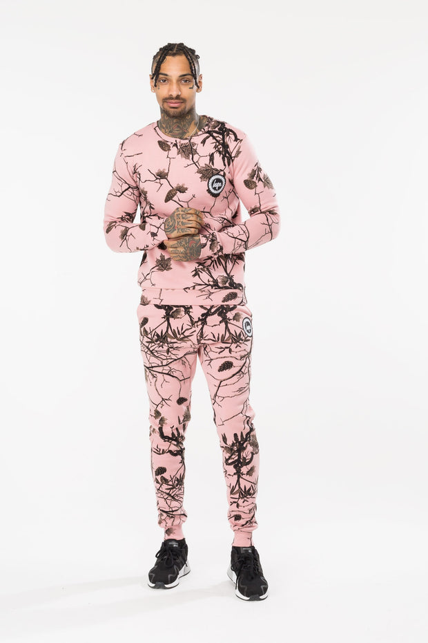 Hype Pink Real Camo Men's Crewneck