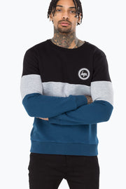 Hype Black/Grey/Navy Triple Men's Crewneck