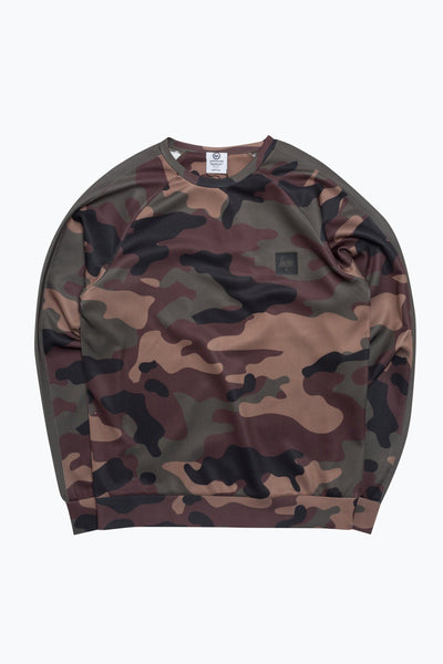Hype Khaki Camo Poly Stripe Men's Crewneck