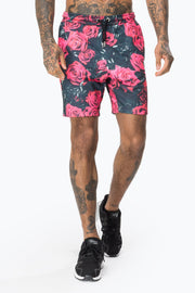 Hype Black/Red Roses Men's Shorts