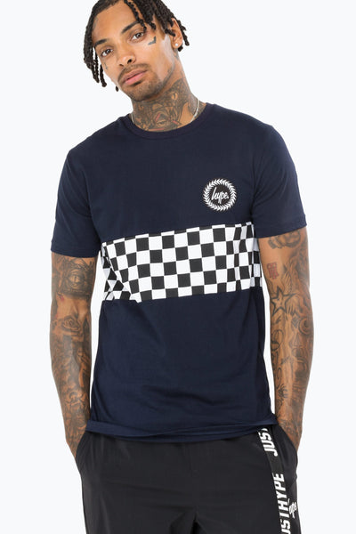 Hype Navy Checkerboard Men's T-Shirt