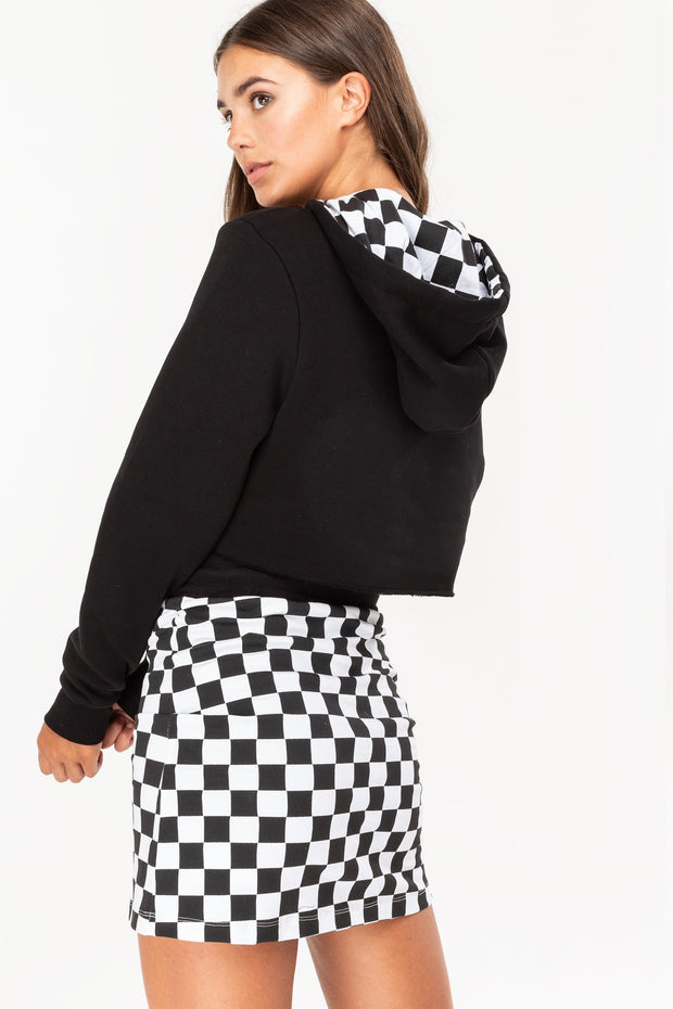 Hype Black/White Checkerboard Women's Skirt