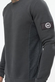 Hype Charcoal Insignia Loop Panel Men's Crewneck