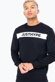 Hype Black/White Just Hype Stripe Men's Crewneck