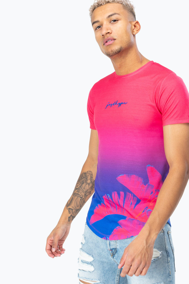 Hype Pink/Multi Power Palm Fade Men's T-Shirt