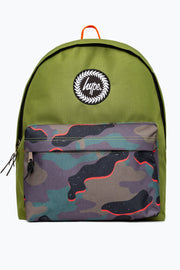 Hype Olive/Multi Neon Camo Pocket Backpack