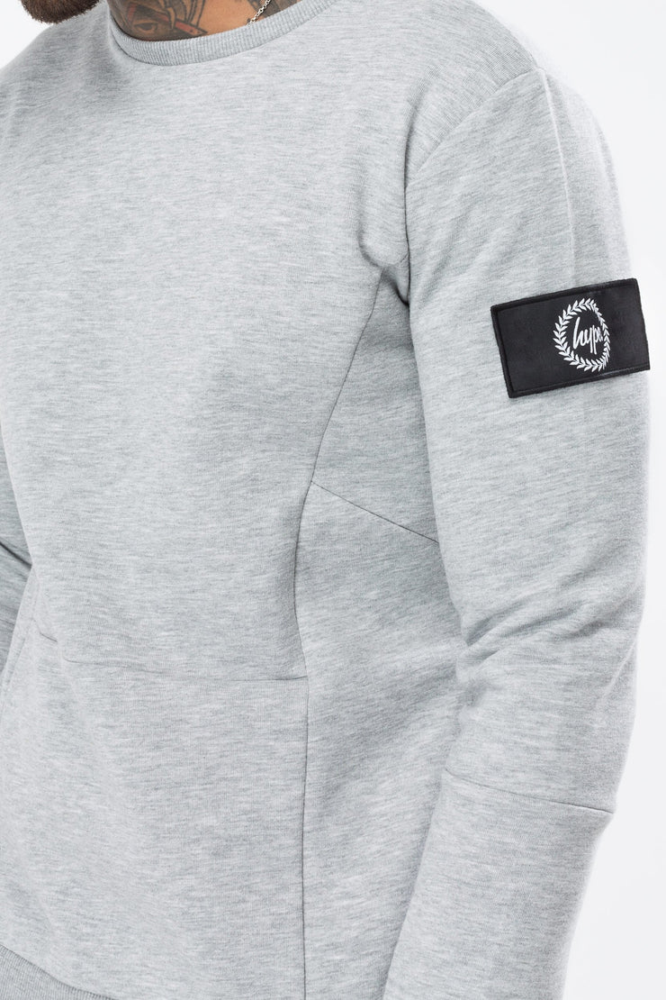 Hype Grey Insignia Panelled Men's Crewneck