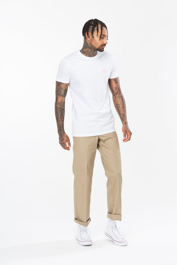 Hype White Cat Grid Men's T-Shirt