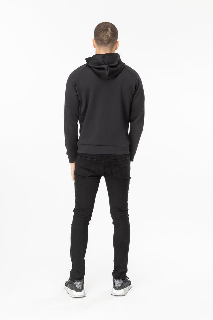 Hype Black Poly Stripe Men's Zip Hoodie