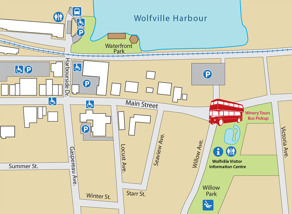 Map of downtown Wolfville