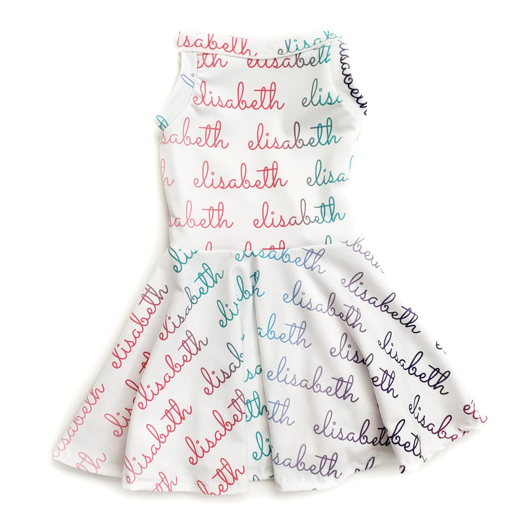 Personalized Tu Twirl Dress - Color Text