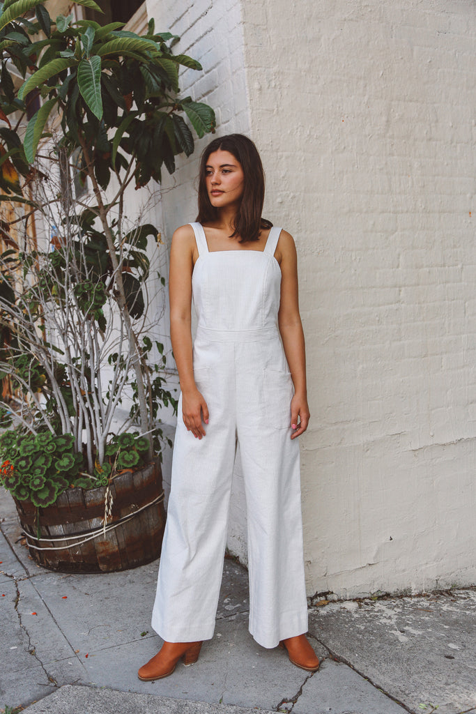 Hey There, Delia: Our Newest Apron Style Jumpsuit
