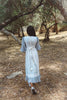 Woman wearing gunne sax dress