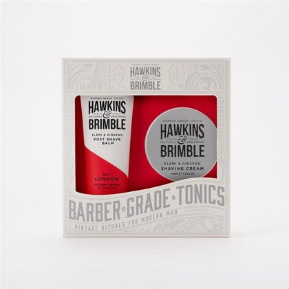 Hawkins & Brimble Grooming Gift Set 2pc (Shave Cream & Post Shave Balm)  £16.95