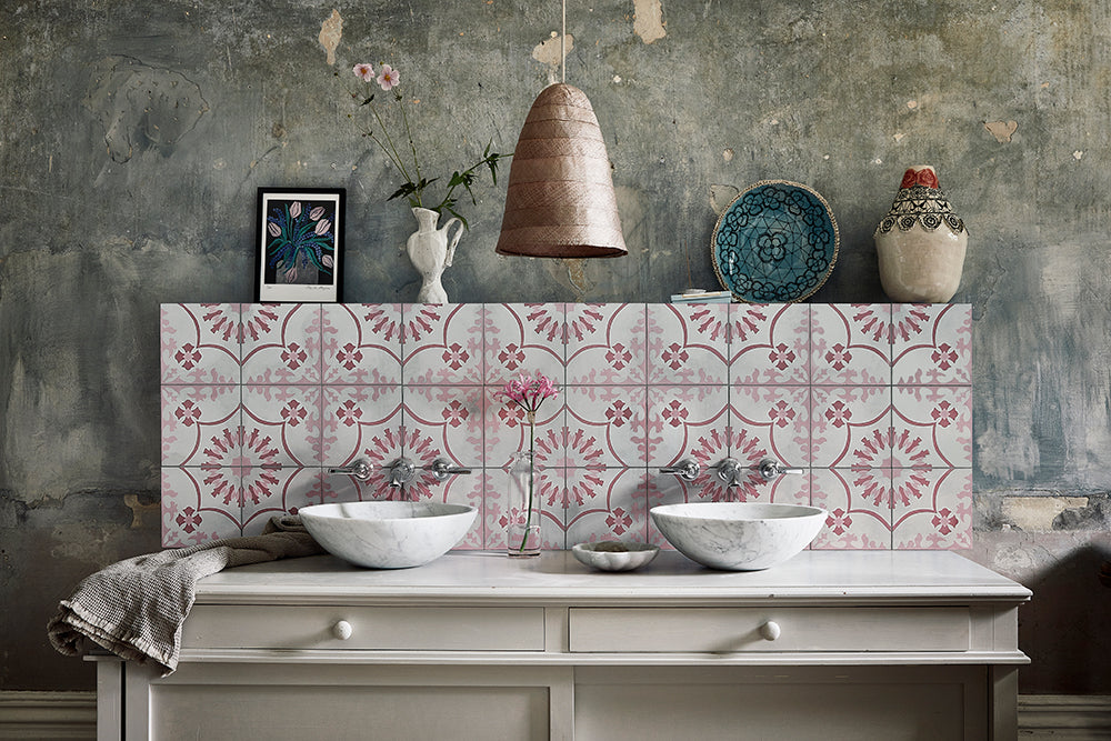 pink bolonia tile