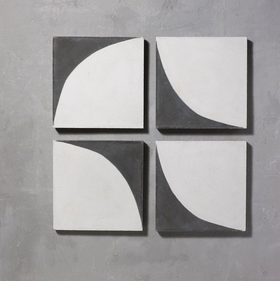 Black Arco Tile Tiles - Handmade