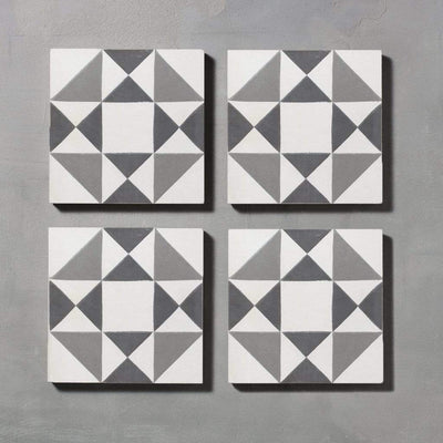 Black Asquith Tile Tiles - Handmade