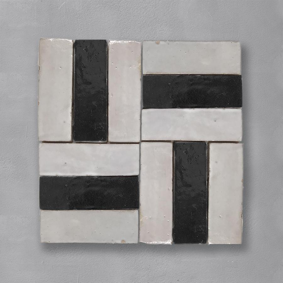 Black Bejmat Tile Tiles - Glazed
