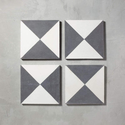 Black Churriana Tile Tiles - Handmade