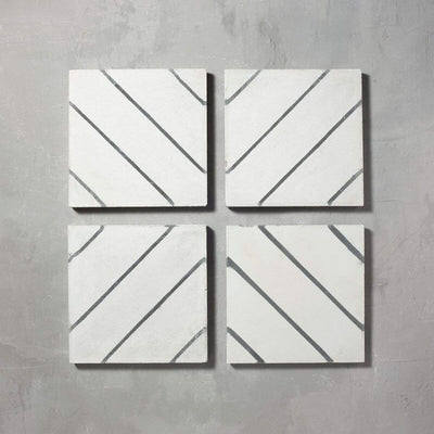 Black Pencil Salon Tile Tiles - Handmade