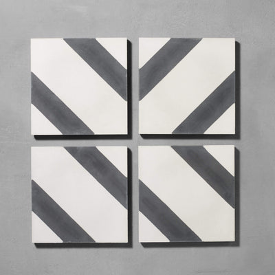 Black Salon Tile Tiles - Handmade