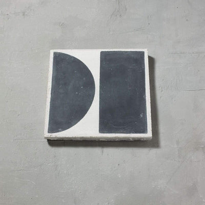 Black Split Shift Two Tiles - Handmade