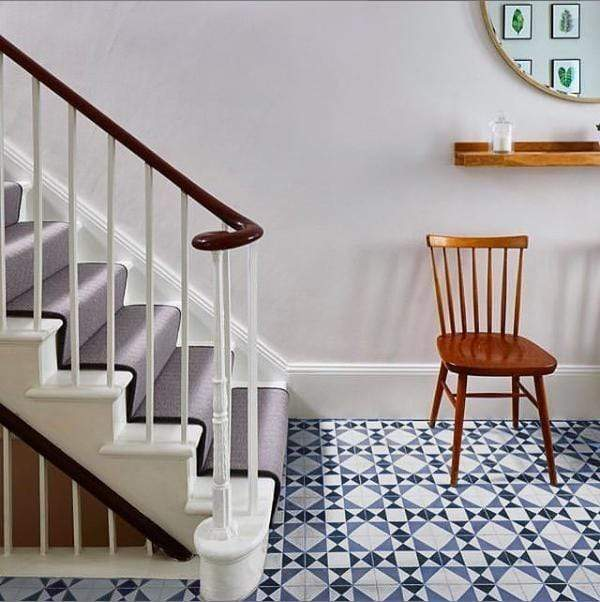 Blue Asquith Tile Tiles - Handmade