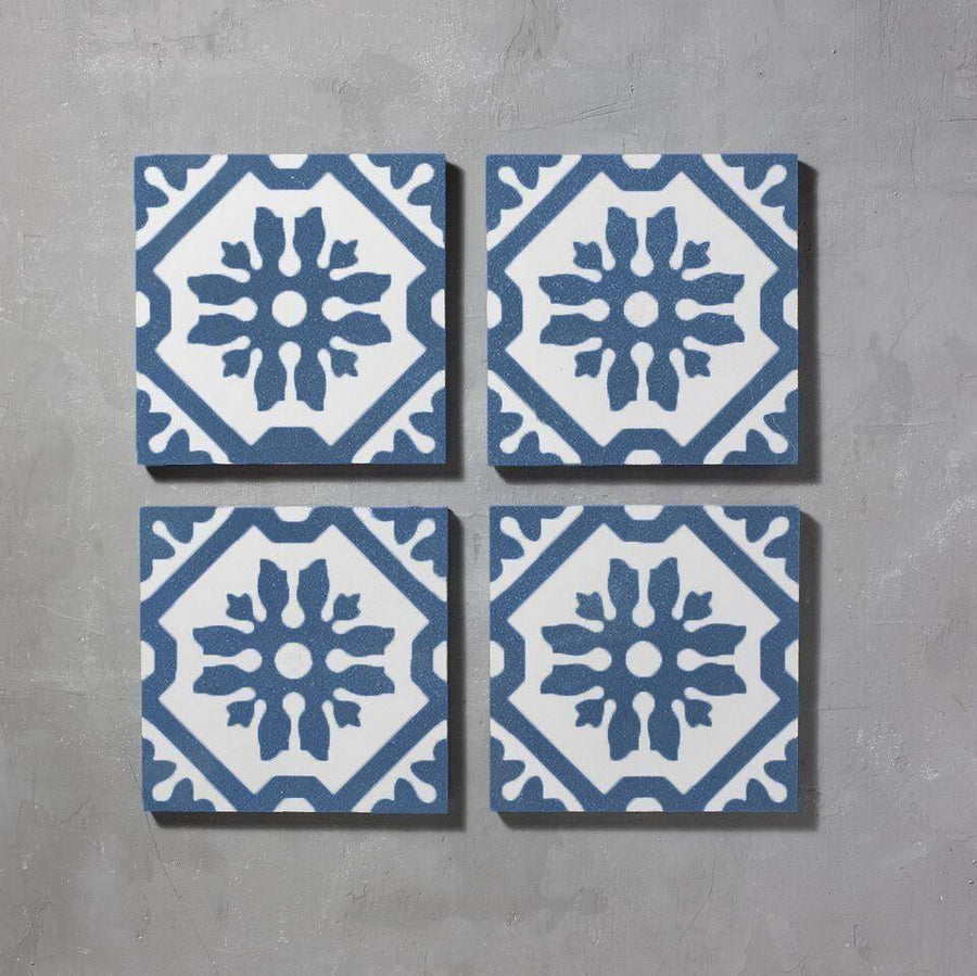 Blue Basco Tile Tiles - Handmade