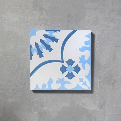 Blue Bolonia Tile Tiles - Handmade