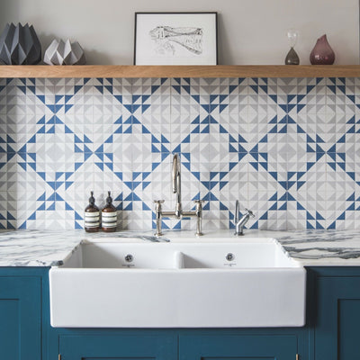 Blue Majadas Tile Tiles - Handmade