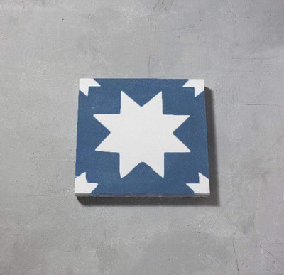 Blue Pradena Tile Tiles - Handmade