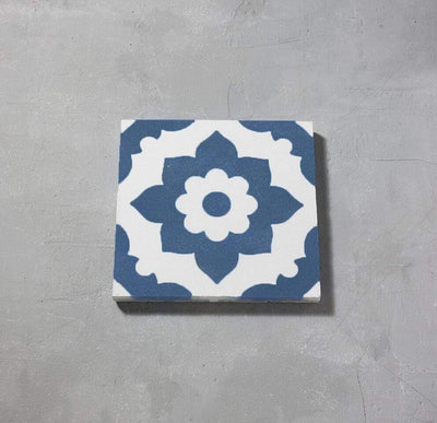 Blue Santona Tile Tiles - Handmade