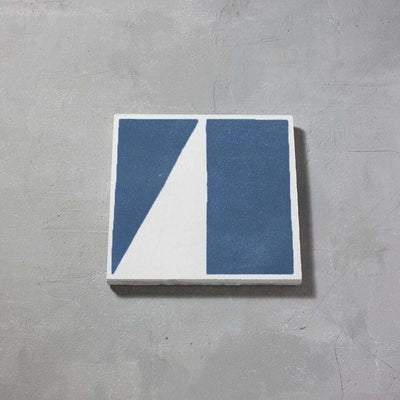 Blue Split Shift One Tiles - Handmade