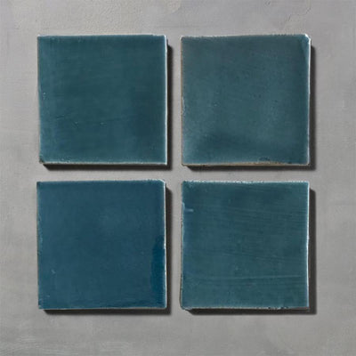 Blue Glazed Square Tile Tiles - Glazed