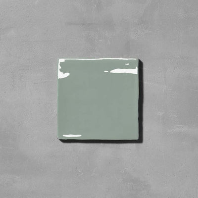 Timeless Fennel Square Tile Tiles - Glazed