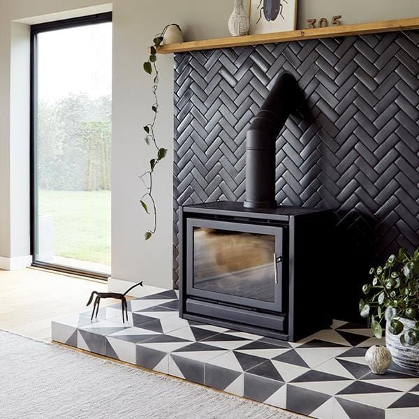 Matt Black Glazed Rectangle Tile Tiles - Glazed