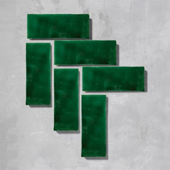 Emerald Green Glazed Rectangle Tile Tiles - Glazed