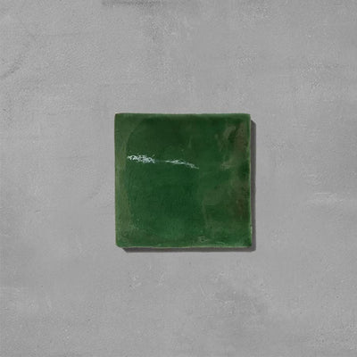 Emerald Green Glazed Square Tile Tiles - Glazed