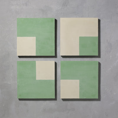 Forest Square Tiles - Handmade