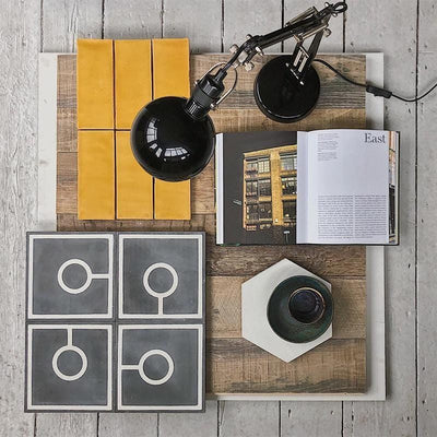 Golden Yellow Glazed Rectangle Tile Tiles - Glazed